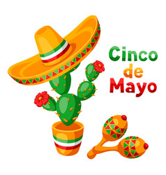 Mexican cinco de mayo greeting card vector