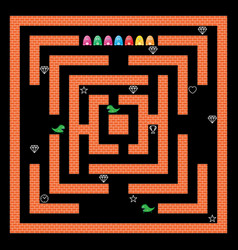 monsters maze game design vector image