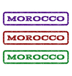 morocco watermark stamp vector image