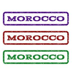 Morocco watermark stamp vector