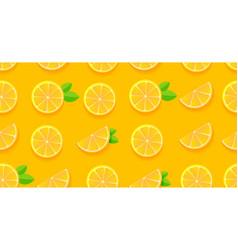 Orange slices seamless pattern modern plat vector