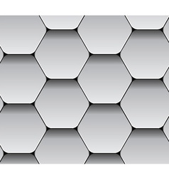 paper seamless hexagon pattern vector image