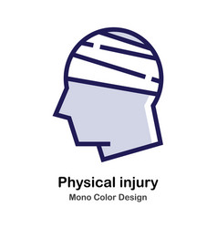 Physical injury mono color icon vector