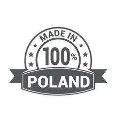 poland stamp design vector image
