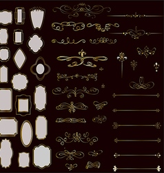 Set of design elements frames and page decor vector