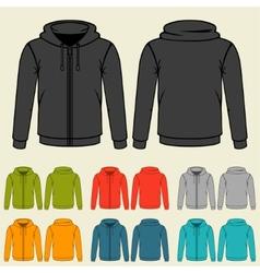 set templates colored sweatshirts for men vector image