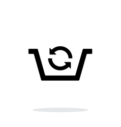 Shopping basket exchange simple icon on white vector