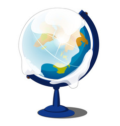 snow-covered globe isolated on a white background vector image