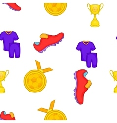 Soccer equipment pattern cartoon style vector