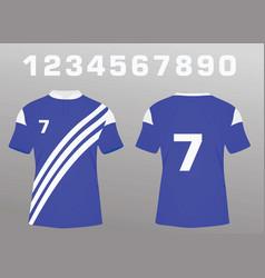Soccer jersey vector