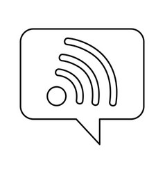 Speech bubble with wifi signal icon vector