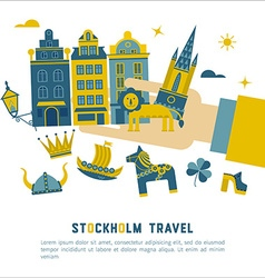 Stockholm travel card vector