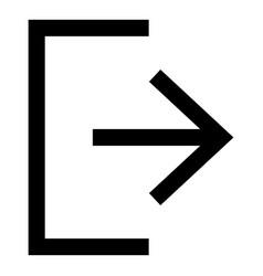 symbol exit icon black color flat style simple vector image