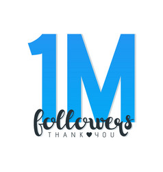 thank you letters for follower vector image