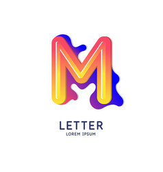The letter m latin alphabet display vector
