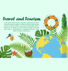 Travel and tourism horizontal banner vector