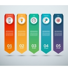 Vertical options banner for infographics vector
