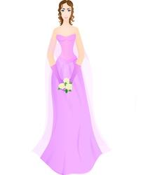 violet vector image