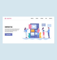Web site gradient design template contact vector