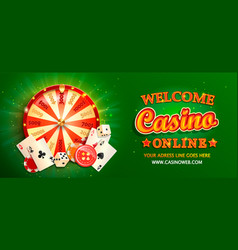 Welcome online casino banner vector