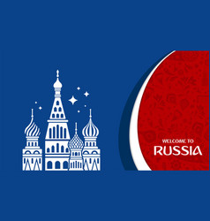 Welcome to russia design template vector
