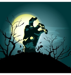 Zombie hand background vector