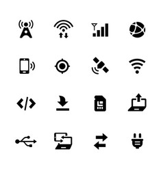 Connectivity icons vector