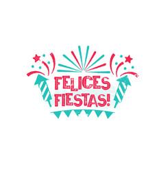 felices fiestas - happy holidays to spanish vector image vector image