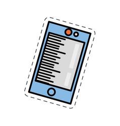 cartoon smartphone call technology image vector image