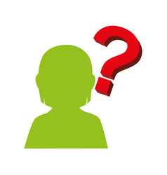 person silhouette with question mark vector image