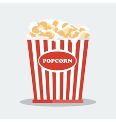 pop corn in red box vector image vector image