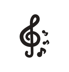 black icon on white background music note vector image