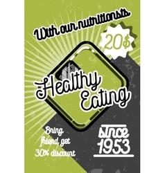 Color vintage nutritionist poster vector image vector image