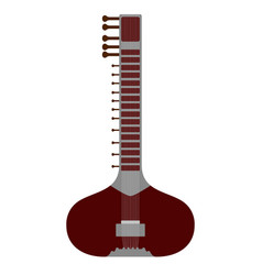 Isolated sitar icon musical instrument vector