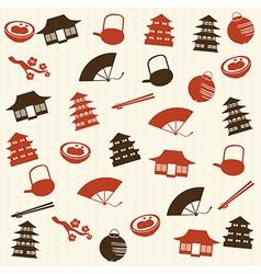 Japanese seamless pattern 2 vector image