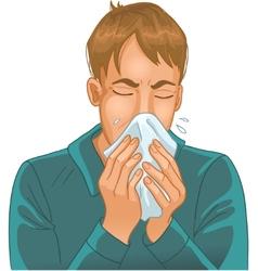 Sneezing man vector image