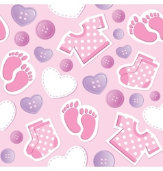 baby pink seamless pattern vector image