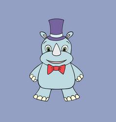 baby rhino cartoon vector image