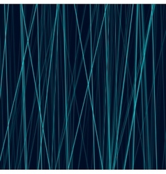 Cyan neon abstract lines on dark background vector image vector image