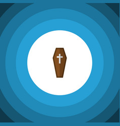 isolated coffin flat icon casket element vector image vector image