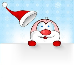 santa claus cartoon with banner vector image vector image