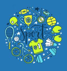 sport circle vector image vector image
