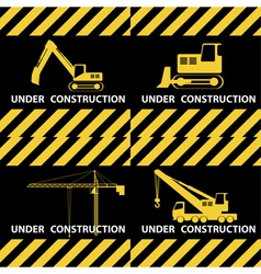 under construction background vector image vector image