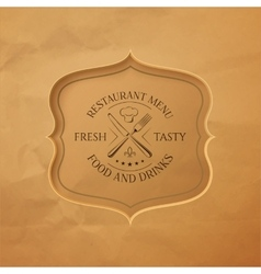 Vintage restaurant or cafe menu template vector image