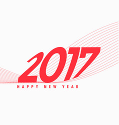 2017 text in red color with line wave vector
