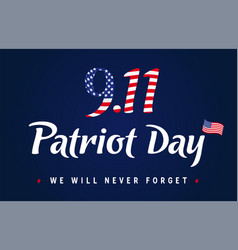 9 11 partiot day vintage blue banner vector