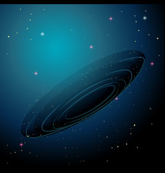 A space galaxy background vector