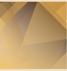 abstract golden and brown colors modern polygon vector image