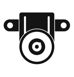 action small camera icon simple style vector image