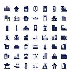 apartment icons vector image